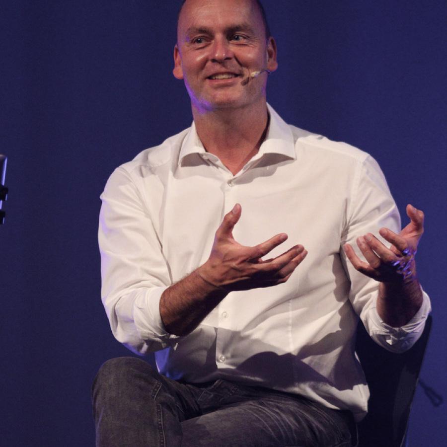 Michael Großklaus mit seiner Familie.